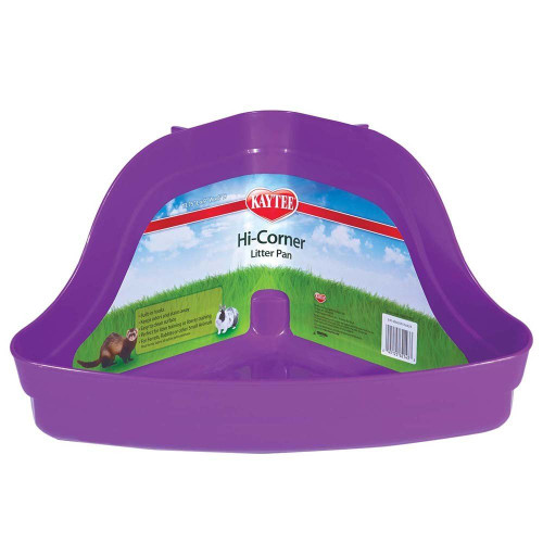 "Super Pet Hi-Corner Litter Pan, 13.75"" L x 9"" W x 8"" H, Colors May Vary"