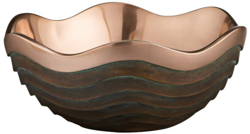 Nambe Copper Canyon 2-1/2-Quart Bowl ,10-Inch by 4-1/4-Inch