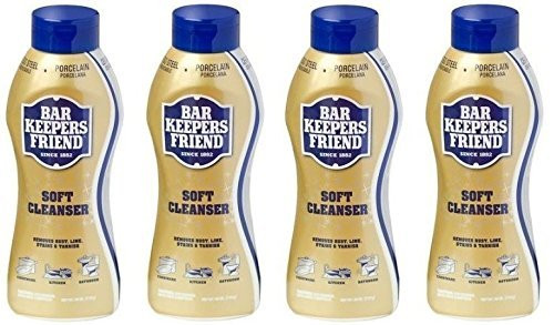 Bar Keepers Friend Soft Cleanser for Stainless Steel / Porcelain / Ceramic / Tile / Copper - 13 Oz. Each - 4 Pack
