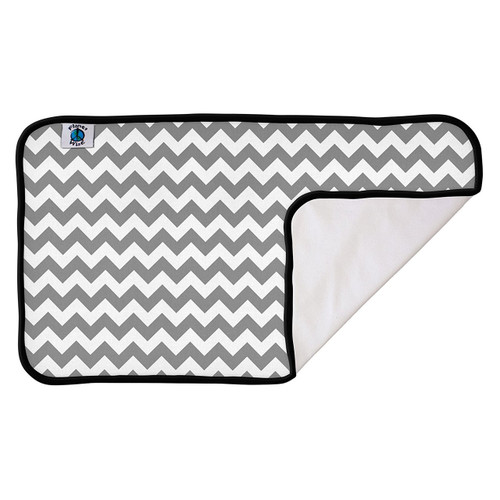 Planet Wise DesignerPadGrayChevron Designer Waterproof Diaper Pad, Gray Chevron