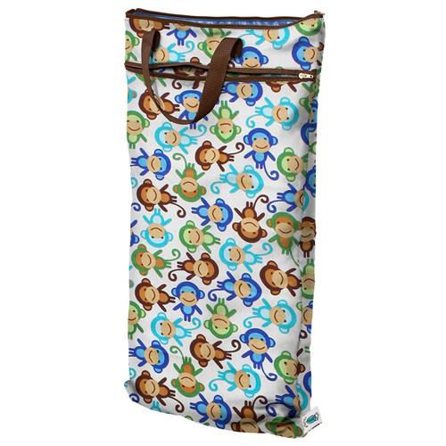 Planet Wise Hanging Wet/Dry Bag, Monkey Fun