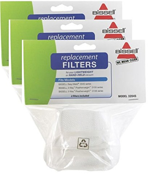 Bissell Featherweight Vacuum Filters (6 Pack)