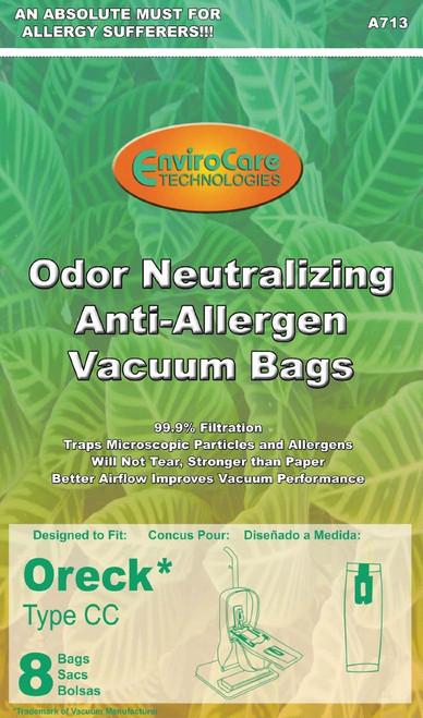 Oreck Odor Fighting Anti-Allergen Vacuum Bags, 8 Bags Per Package