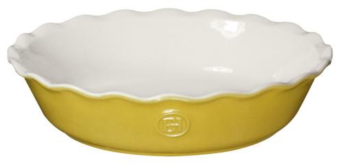 "Emile Henry HR Modern Classics Pie Dish, 9"", Yellow"