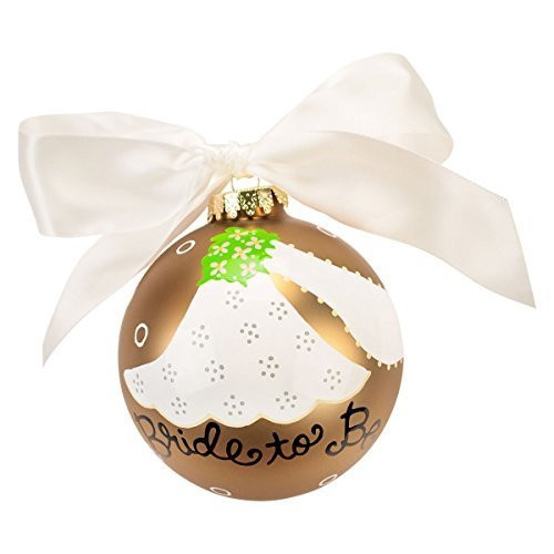 Coton Colors Bride To Be Glass Ornament