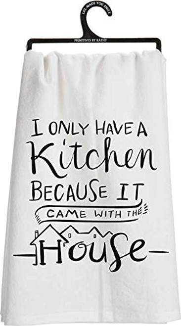 Primitives by Kathy A Kitchen Tea Towel, 28-Inch by 28-Inch