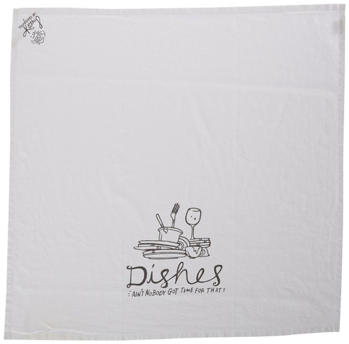 Primitives by Kathy Dishes Tea Towel, 28-Inch by 28-Inch