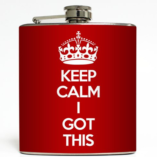I Got This - Red - Liquid Courage Flasks - 6 oz. Stainless Steel Flask