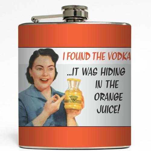 I Found the Vodka - Liquid Courage Flasks - 6 oz. Stainless Steel Flask
