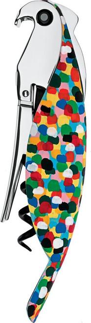 A di Alessi Parrot Sommelier-Style Corkscrew, Multi-Color