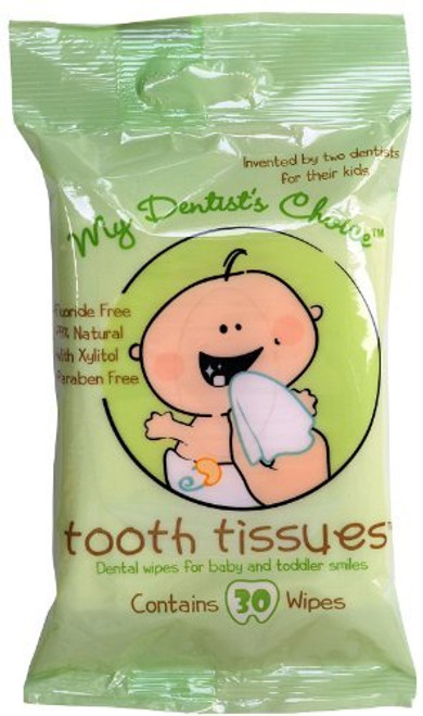 My Dentist's Choice Dental Wipes Tooth Tissues -- 30 Wipes