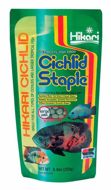 Hikari 8.8-Ounce Cichlid Staple Floating Pellets for Pets, Large