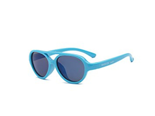 Real Kids Shades Sky Aviator Sunglasses for Kids, Toddler - Flexfit Frames - Satisfaction Guaranteed Neon Blue Aviator F