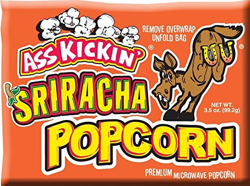 Ass Kickin' Microwave Sriracha Popcorn - Put a Little Ass Kickin' in Your Favorite Movie. This Popcorn Is Seasoned Just