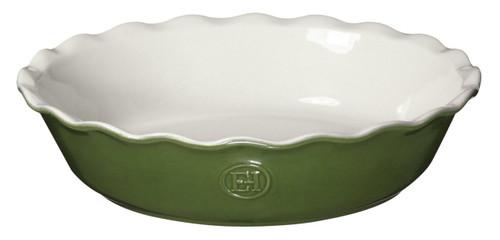 "Emile Henry HR Modern Classics Pie Dish, 9"", Green"