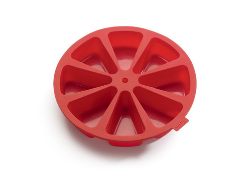 Lekue 8 Cavity Cake Portion Mold, Model # 0216008R01M017, Red