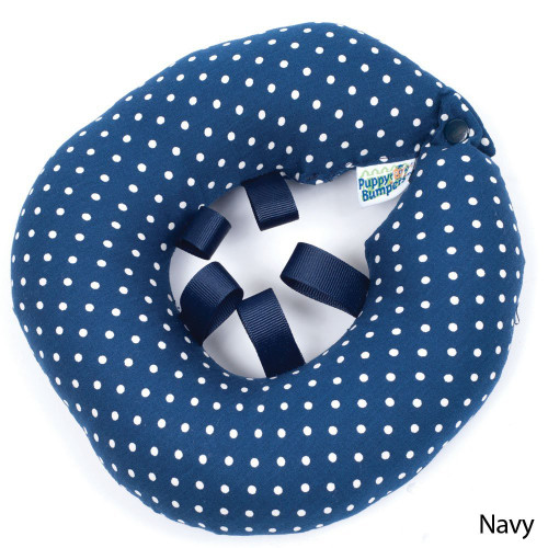 """Puppy Bumper - Keep Your Dog on the Safe Side of the Fence - Navy Dot - up to 10"""""""