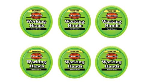 O'Keeffe's K0680001-6 Working Hands Hand Cream in Jar (6 Pack), 6.8 oz