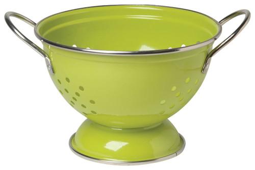 Now Designs Metal Colander, 1-Quart, Cactus Green