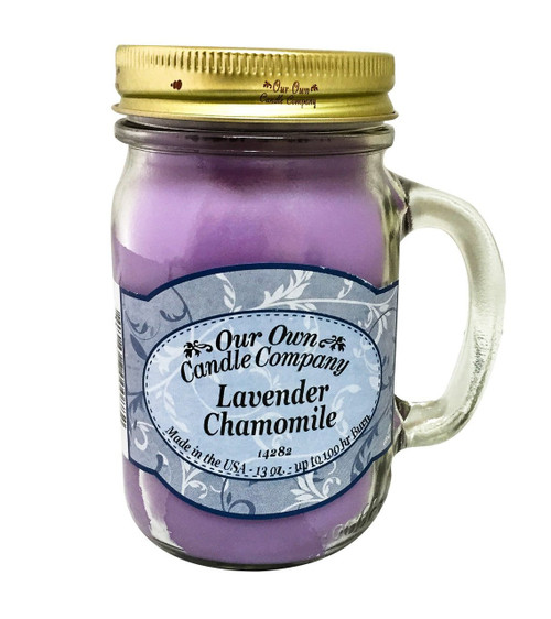 Lavender Chamomile Scented 13 Ounce Mason Jar Candle By Our Own Candle Company