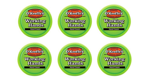 O'Keeffe's K0350002-6 Working Hands Hand Cream in Jar (6 Pack), 3.4 oz