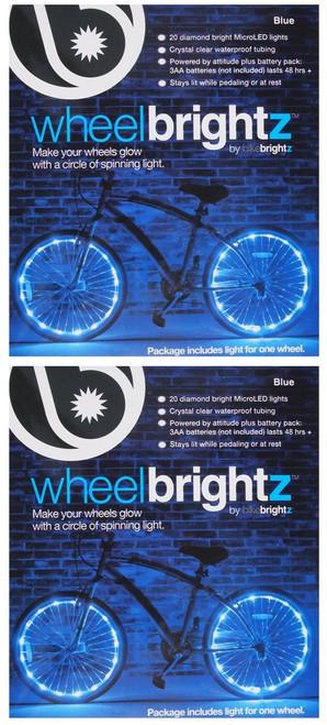 Brightz, Ltd. Blue Wheel Brightz LED Bicycle Light (2-Pack Bundle for 2 Tires)
