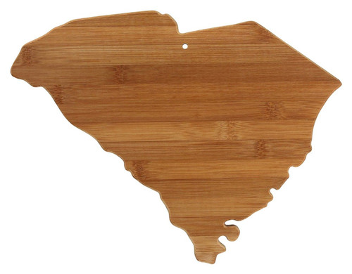 Totally Bamboo State Cutting & Serving Board, South Carolina, 100% Bamboo Board for Cooking and Entertaining