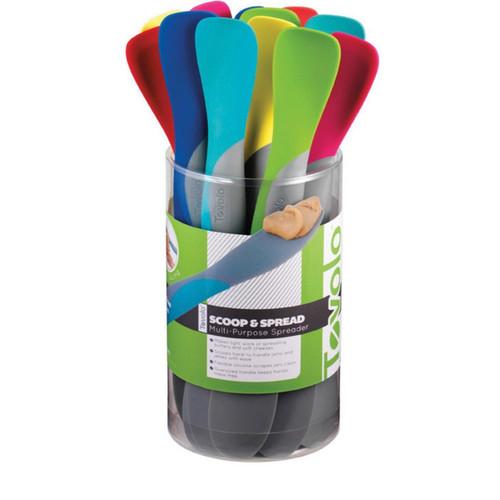 Tovolo Mini Scoop & Spread Spreader Spatula Assorted Colors 1 Piece