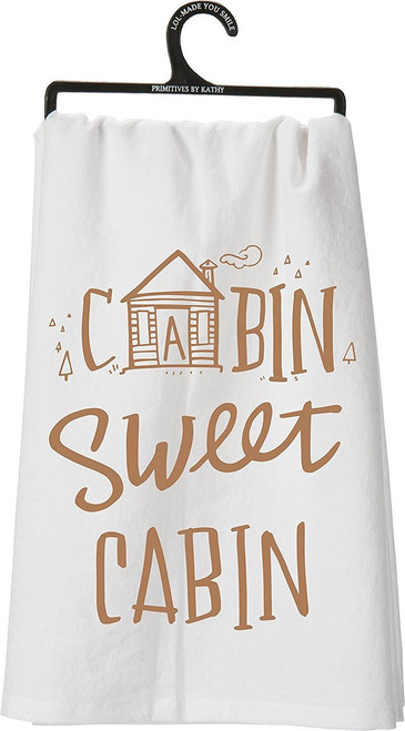Cabin Sweet Cabin Tea Towel Towel