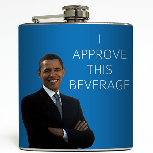 I Approve This Beverage - Liquid Courage Flasks - 6 oz. Stainless Steel Flask