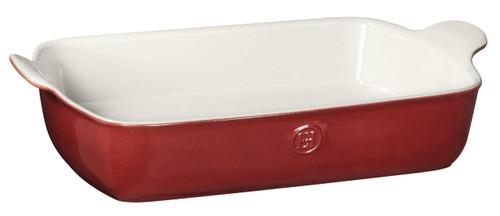 """Emile Henry HR Modern Classics Large Rectangular Baker, 13 x 9"""", Red"""