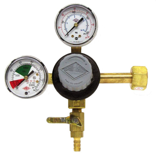 Taprite Double Gauge Beer Regulator Primary Keg New Brass - E-T742