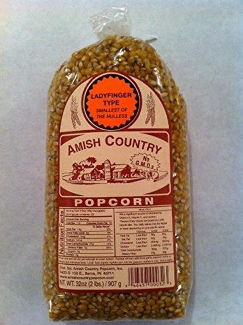 Amish Country Popcorn Ladyfinger 2 Pound Bag