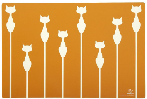 ORE Pet Shadow Cat Placemat - Sunset Orange