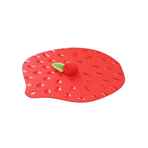 Charles Viancin Silicone Strawberry Lid 9""