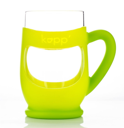 Kupp' Glass Drinking Cup for Kids Green