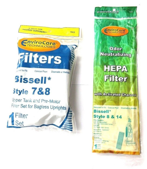 (1 Set) Bissell Vacuum style 7/8/14 Foam Filter Kit 3093 Cleanview type Part # 203 1073, 3290, 203 1085, 203 1192 & Biss