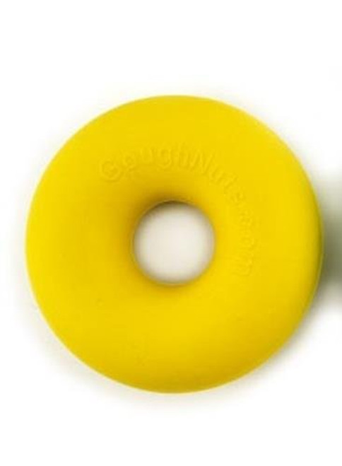 Goughnuts - Rubber Dog Chew Toy, Med .75 - Yellow Ring