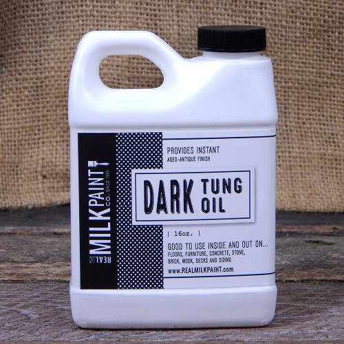 Real Milk Paint Dark Raw Tung Oil - 16 oz.