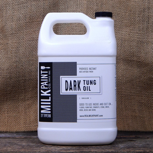 Real Milk Paint Dark Raw Tung Oil - Gallon