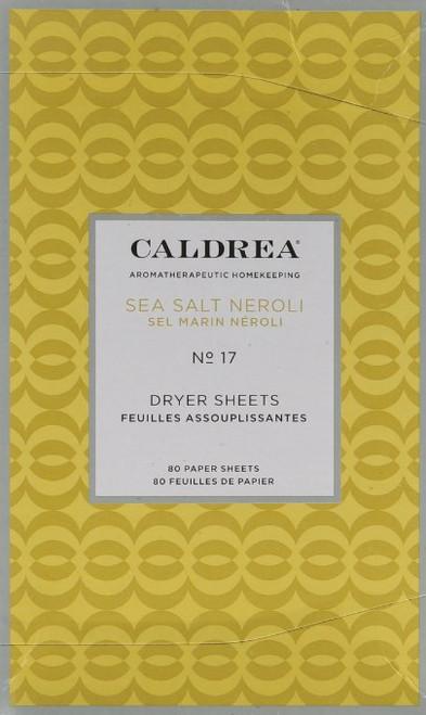 Caldrea Dryer Sheets, Sea Salt Neroli, 80 Count