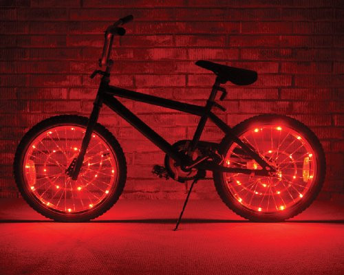 Brightz, Ltd. Red Wheel Brightz LED Bicycle Light (2-Pack Bundle for 2 Tires)