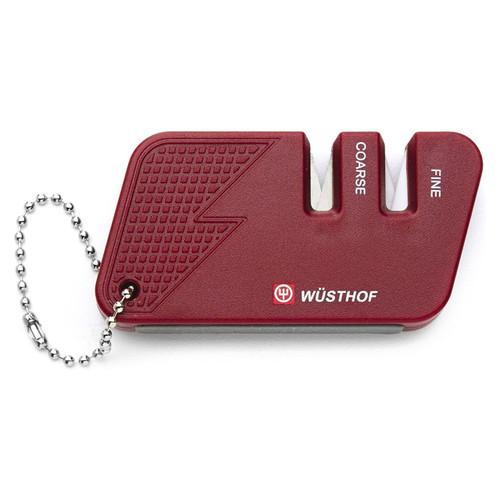 Wusthof Red 2-Stage Pocket Knife Sharpener