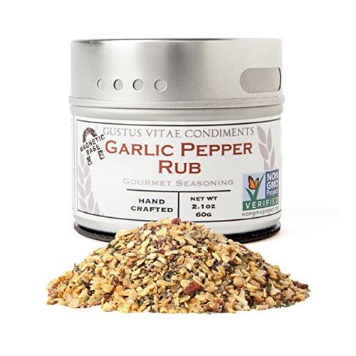 Garlic Pepper Rub, Non-GMO, 2.7, Gourmet Seasoning