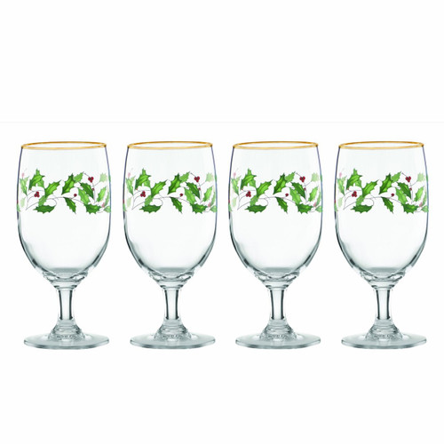 Lenox Holiday Iced Beverage Glasses, Set of 4