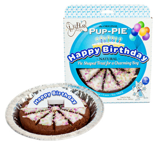 Lazy Dog Cookie Company Original Pup-PIE Dog Treat, Happy Birthday Cake for a Charming Boy, 5oz