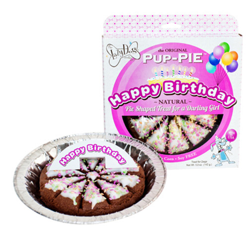 Happy Birthday Pup-Pie for a Darling Girl, from The Lazy Dog Cookie Company, 5oz