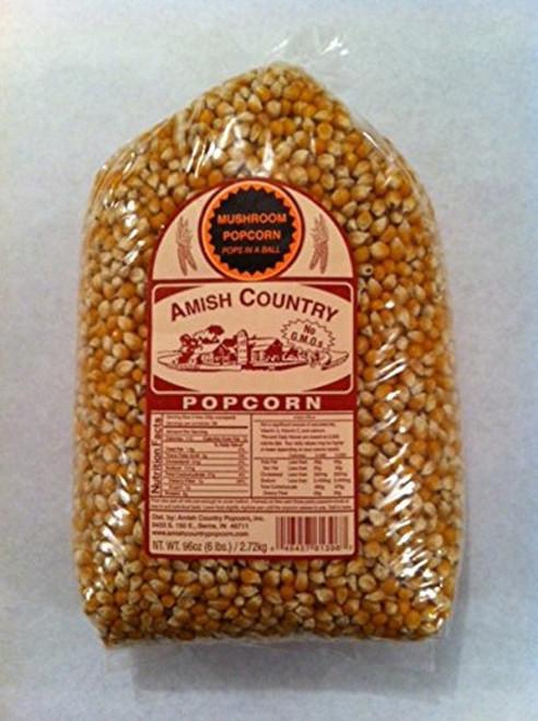 Amish Country Popcorn Mushroom Large 6 Pound Bag