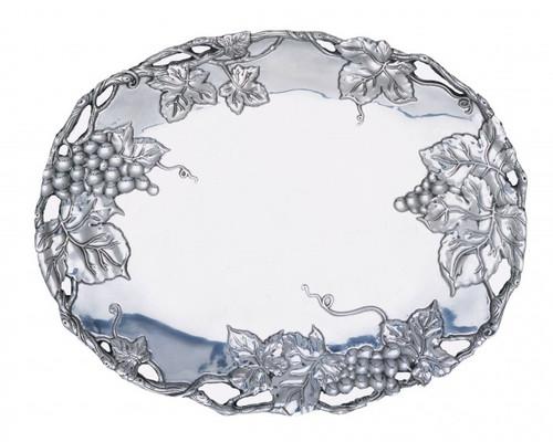 Arthur Court Grape 18-1/2-Inch Oval Platter