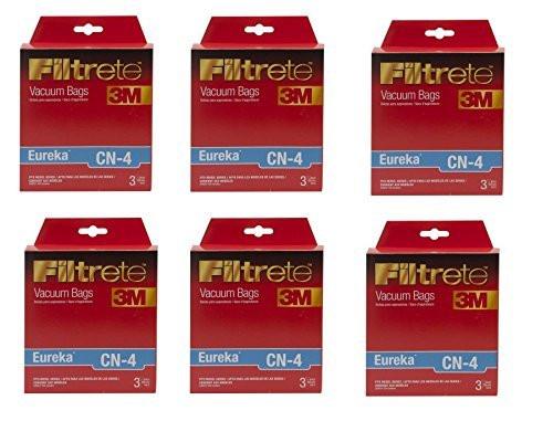 3M Filtrete Eureka CN-4 Micro Allergen Vacuum Bag, (6 packs of 3 Bags =18 Total Bags)